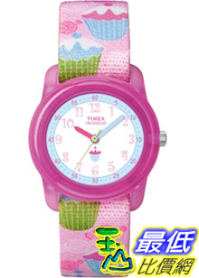 [美國直購 ShopUSA] Timex 手錶 Children's Kids T7B886 Pink Nylon Analog Quartz Watch with White Dial