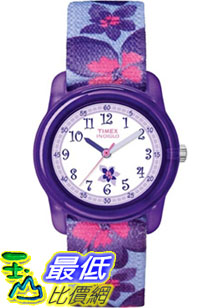 [美國直購 ShopUSA] Timex 手錶 Children's Kids T7B887 Purple Nylon Analog Quartz Watch with White Dial