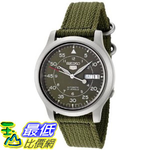 [美國直購 ShopUSA] Seiko Men's SNK805 Seiko 5 Automatic Green Canvas Strap Watch $2780