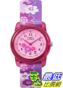 [美國直購 ShopUSA] Timex 手錶 Children's T7B011 Purple Cloth Quartz Watch with Pink Dial