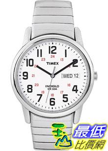 [美國直購 ShopUSA] Timex 手錶 Men's Easy Reader T2N091 Silver Stainless-Steel Quartz Watch with White Dial