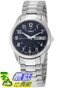 [美國直購 ShopUSA] Timex 手錶 Men's Elevated Classics T2M933 Silver Stainless-Steel Quartz Watch with Blue Dial