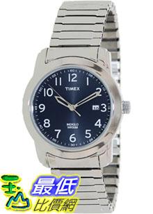 [美國直購 ShopUSA] Timex 手錶 Men's Elevated Classics T2P132 Silver Stainless-Steel Analog Quartz Watch with Blue Dial