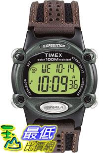 [美國直購 ShopUSA] Timex 手錶 Men's Expedition T48042 Brown Leather Quartz Watch with Digital Dial