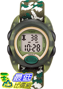 [美國直購 ShopUSA] Timex 手錶 Children's Kids T71912 Green Cloth Quartz Watch with Digital Dial