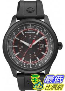 [美國直購 ShopUSA] Timex 手錶 Men's Expedition T49920 Black Resin Quartz Watch with Black Dial