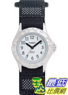 [美國直購 ShopUSA] Timex 手錶 Children's Kids T79051 Black Cloth Quartz Watch with White Dial