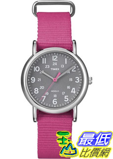 [美國直購 ShopUSA] Timex 中性男女通用錶  Weekender T2N834 Pink Nylon Quartz Watch #1681884706