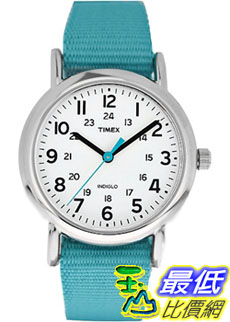 [美國直購 ShopUSA] Timex 中性男女通用錶  Weekender T2N836 Blue Nylon Quartz Watch #168188443