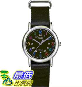 [美國直購 ShopUSA] Timex 中性男女通用錶  Weekender T2N869 Black Nylon Quartz Watch #1681885419