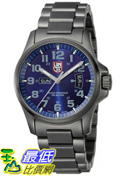 [美國直購 ShopUSA] Luminox Men's Atacama Field Day-Date 1824 Grey Stainless-Steel Quartz Watch with Blue Dial #1681875506 $22512