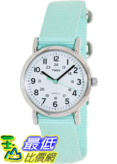 [美國直購 ShopUSA] Timex 中性男女通用錶  Weekender T2P073 Green Nylon Analog Quartz Watch #1681891771