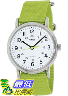 [美國直購 ShopUSA] Timex 中性男女通用錶  Weekender T2P145 Green Nylon Analog Quartz Watch #1681891784