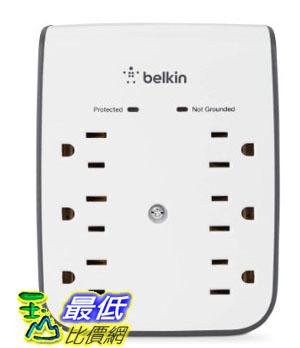 [美國直購 USAShop] Belkin 電湧保護器 SurgePlus 6-Outlet Wall Mount Surge Protector with Dual USB Ports (2.1 AMP / 10 Watt)