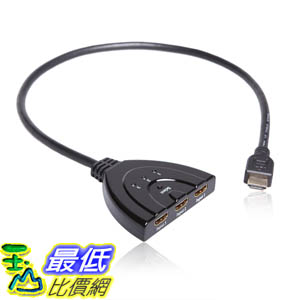 [美國直購 USAshop] MarginMart, 電纜 Inc. PET0301D HDMI 3-In 1-Out HDMI Auto Switch with 1.5 ft. Cable