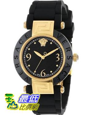 [美國直購禮品暢銷排行榜] Versace 手錶 Women's 92QCP9D008 S009 Reve Ceramic Bezel Gold Ion-Plating Black Rubber Watch $30299