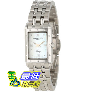 [美國直購禮品暢銷排行榜] Raymond Weil 手錶 Women's 5971-ST-00915 Tango Rectangular Steel Mother-Of-Pearl Dial Watch $26297