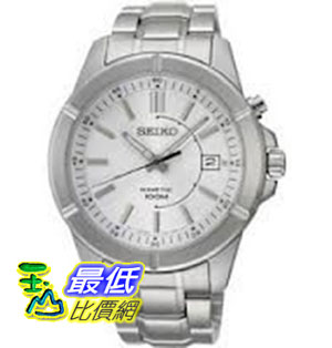 [美國直購 ShopUSA] Seiko 手錶 Kinetic Silver Dial Stainless Steel Mens Watch SKA535 $4897