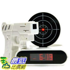 _a@[玉山最低比價網] GUN ALARM CLOCK 射擊鬧鐘 手槍鬧鐘 懶人鬧鐘 創意生活(780493_a) $672