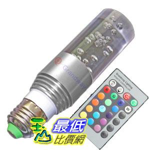 _a@[玉山最低比價網] LED E27 水晶 七彩 燈泡 燈具 裝飾燈 附遙控器 3W 85-265V (791596_JB20a) $249