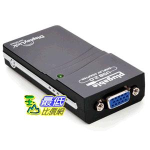 [103美國直購] Plugable USB to VGA Video Graphics Adapter Card for Multiple Displays視頻圖形卡 $1555