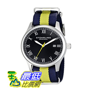 [美國直購] 男士手錶 Stuhrling Original Unisex 522.03 Gen X Liberty Stainless Steel Watch with Canvass Band  $2845