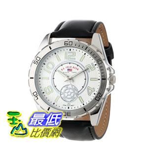 [103 美國直購] 男士手錶 U.S. Polo Assn. Classic Men's US5159 Black Synthetic Leather Strap Watch  $1123
