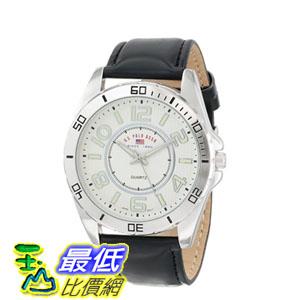 [103 美國直購] 男士手錶 U.S. Polo Assn. Classic Men's US5162EXL Silver Dial Extra Long Black Strap Watch