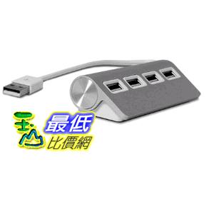 [美國直購] Satechi Premium 4 Port Aluminum USB 2.0 Hub 鋁合金材質 四孔 集線器 4-Port ST-UHA $1039