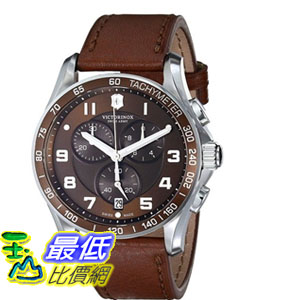[103 美國直購] 男士手錶 Victorinox Men's 241653 Classic Stainless Steel Watch with Brown Leather Band