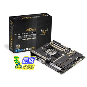 [103 美國直購 ShopUSA] ASUS 主機板 SABERTOOTH Z97 MARK1 ATX DDR3 2600 LGA 1150 Motherboards SABERTOOTH Z97 MARK1 $11057