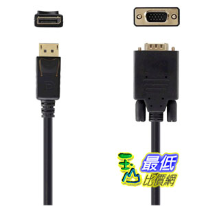 [103美國直購 USAShop] Belkin DisplayPort轉VGA線 F2CD033b10 $2005