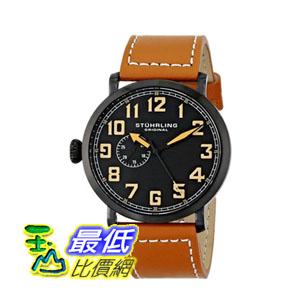 [美國直購] 男士手錶 Stuhrling Original Men's 721.03 Octane Monterey Stainless Steel Watch with Brown Leather Band