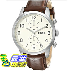 [103 美國直購] 男士手錶 Fossil Men's FS4872 Townsman Stainless Steel Watch with Brown Leather Band  $4137