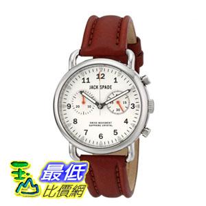[美國直購] 男士手錶 Jack Spade Men's WURU0114 Norton Stainless Steel Watch with Brown Leather Band  $16915