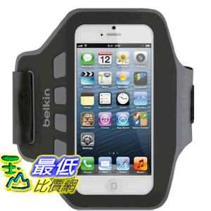 [美國直購] 貝爾金 Belkin EaseFit Armband 運動臂套 (黑色) 臂帶 for iPhone 5, 5S, 5c F8W105ttC00 $711