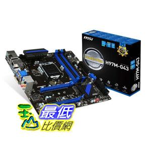 [103 美國直購] MSI 主機板 H97M-G43 Micro ATX DDR3 2400 LGA 1150 H97M-G43 $4437