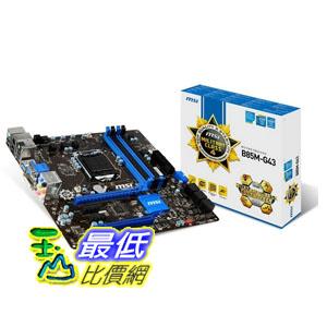 [103 美國直購] MSI 主機板 Computer Corp. Motherboard Micro ATX DDR3 1333 LGA 1150 B85M-G43 $3549