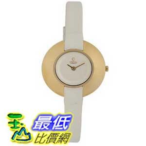 [美國直購 ShopUSA] Obaku 手錶 Women's V135LGIRW Gold Titanium Coated White Leather Watch $2830