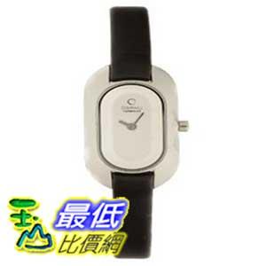 [美國直購 ShopUSA] Obaku 手錶 Women's V136LCIRB Oval Silver Dial Black Leather Watch $2385