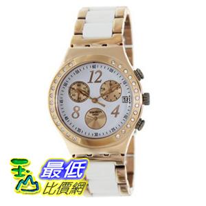 [美國直購 ShopUSA] Swatch 手錶 Irony Dreamwhite Rose Chronograph Rose Gold-Tone Steel Ladies Watch YCG406G $5869