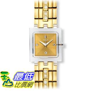 [美國直購 ShopUSA] Swatch Originals Classic White Barrette Champagne Dial Stainless Steel Ladies 手錶 SUBK151G $3478