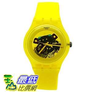 [美國直購 ShopUSA] Swatch 手錶 Women's Originals SUOJ100 Yellow Plastic Swiss Quartz Watch with Yellow Dial $3034