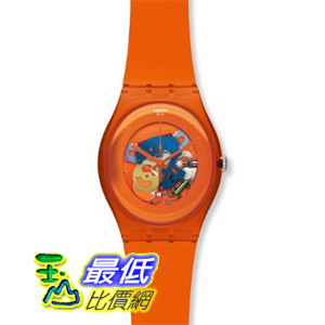 [美國直購 ShopUSA] Swatch 手錶 Women's Originals SUOO100 Orange Plastic Swiss Quartz Watch with Orange Dial $2993