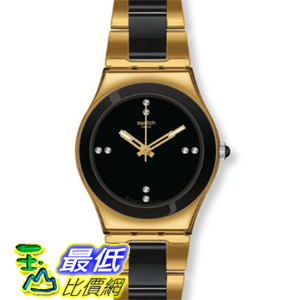 [美國直購 ShopUSA] Swatch 手錶 Women's Irony YLG124G Two-Tone Stainless-Steel Swiss Quartz Watch with Black Dial $6835