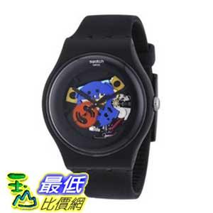 [美國直購 ShopUSA] Swatch 手錶 Originals Black Lacquered Black Silicone Unisex Watch SUOB101 $3034