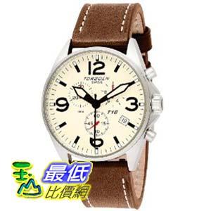 [美國直購 ShopUSA] Torgoen 手錶 Swiss Men's T16103 Aviation Beige Dial and Leather Strap Watch $19559