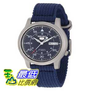 [美國直購 ShopUSA] Seiko 手錶 Men's SNK807 Seiko 5 Automatic Blue Canvas Strap Watch $2490