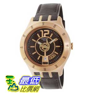 [美國直購 ShopUSA] Swatch 手錶 Men's Irony YTG400 Brown Leather Swiss Quartz Watch with Brown Dial $5875