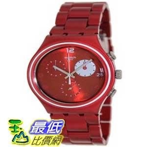 [美國直購 ShopUSA] Swatch 手錶 White Circle Chronograph Red Aluminum Unisex Watch YCR4000AG $5383